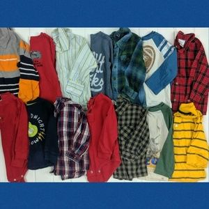 Boys 18-24 Month Long Sleeve Shirts Bundle (14)